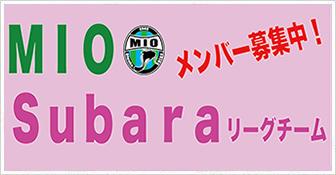 MIO Subaraリーグチーム メンバー募集中!